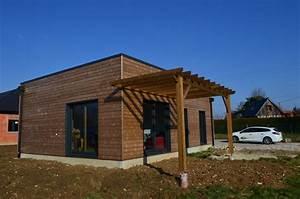 Maison En Bois Construction : maison bois plain pied pierville 76730 djsl bois ~ Melissatoandfro.com Idées de Décoration