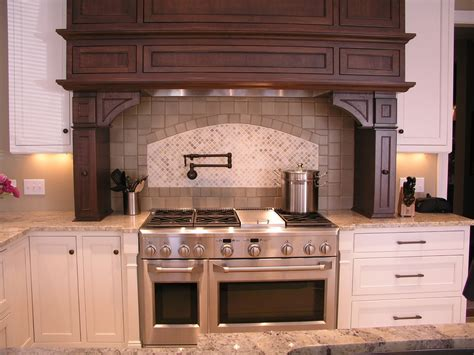 kitchen hoods wood vent kitchen transitional with candlesticks
