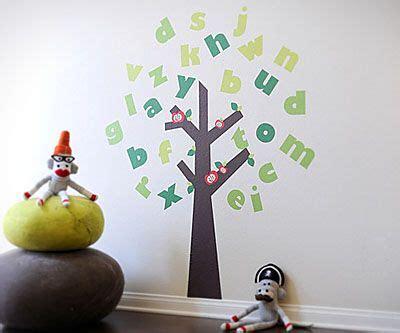 large alphabet tree fabric wall decals  playroom