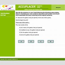 Accuplacer Essay Test Practice