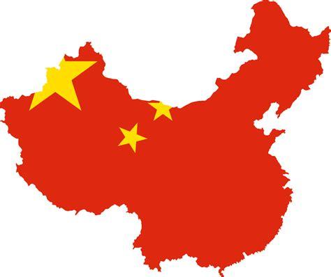 China Flag Map Mapsofnet