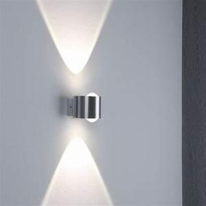 Led Aussenleuchten Wandleuchten : led wandleuchte aus aluminium ip54 wohnlicht ~ Markanthonyermac.com Haus und Dekorationen