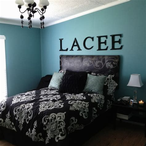 Decorating Ideas For Teal Bedroom by Black And Teal Bedroom Decorating Ideas
