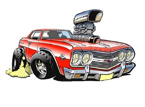 art cartoon muscle car clipart