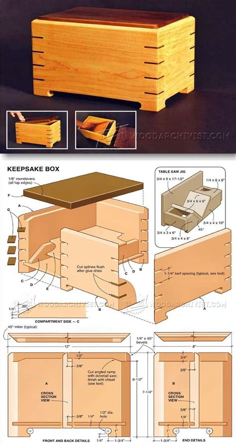 wooden box plans ideas  pinterest jewelry box