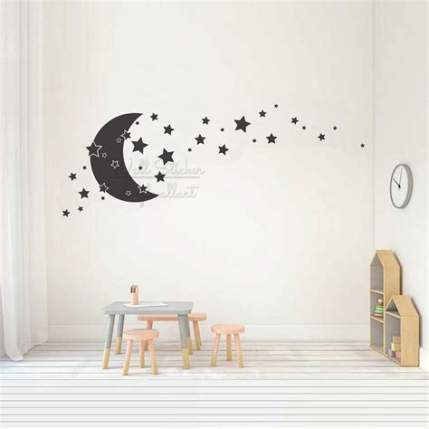 Because roommates nursery wall decals are removable and repositionable, you can easily move or change your nursery wall decor as your baby. Baby Nursery Moon Stars Wall Decal Kids Room Carton Moon Stars Wall Stickers Children Room ...