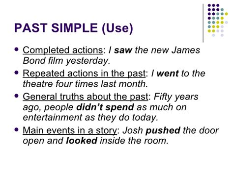 Past Simple, Continuous, Perfect