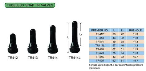 Tire Valve Trv Tubeless Snap In Valves Stem Tr412 Tr414