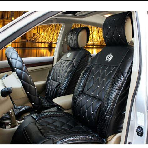 garson dad vip leather car seat cover  diamond crown