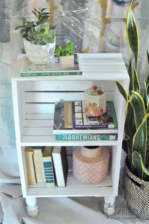 ideas  crate nightstand  pinterest