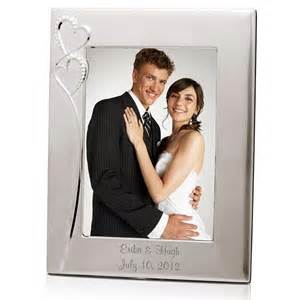 wedding picture frames personalized wedding silver 8x10 picture frame