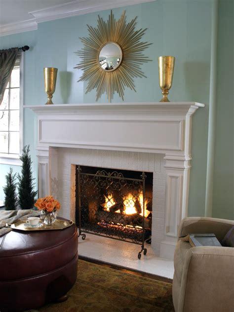 white brick fireplace photos hgtv