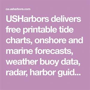 Usharbors Delivers Free Printable Tide Charts  Onshore And