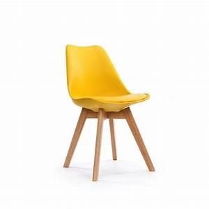 Chaise Design Scandinave Pas Cher LOUMI JAUNE