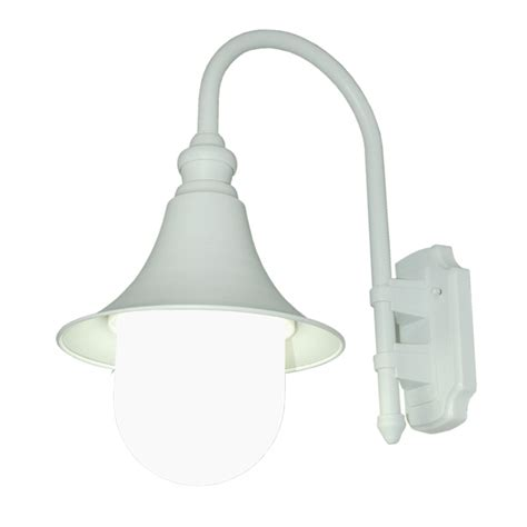 tp lighting white white bell shape outdoor wall light