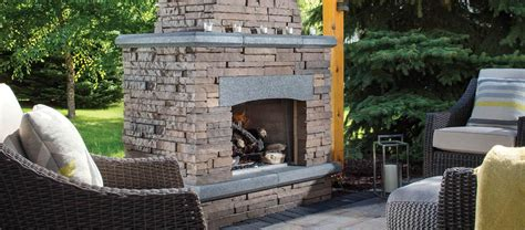 outdoor stone fireplace kitchen kits belgard pavers
