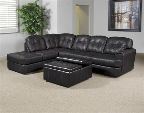 Eastern Charcoal Bonded Leather  Ee  Sectional Ee   By Serta