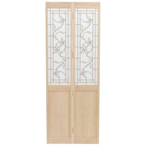 wood interior doors home depot pinecroft 30 in x 80 in glass panel tuscany wood