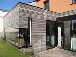 Cout Extension Bois : extension de maison ossature bois extension sur jardin avec toiture terrasse ~ Nature-et-papiers.com Idées de Décoration
