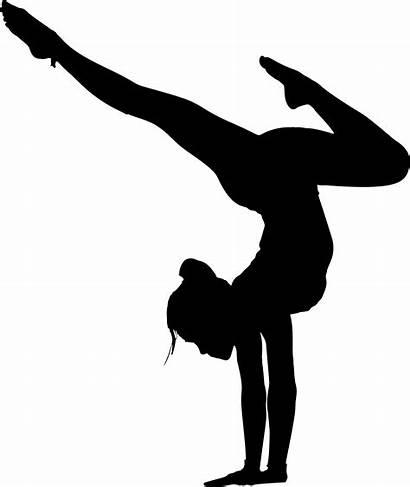 Silhouette Yoga Clipart Vector Poses Gymnastics Gymnast