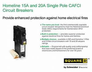 Square D Homeline 15 Amp Single