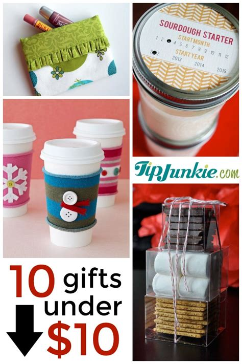 10 presents for christmas under 10 to make tip junkie