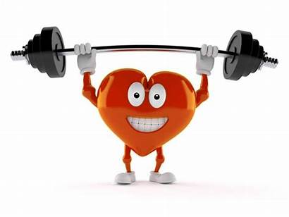 Lifting Heart Cartoon Barbell Weight Character Weightlifting
