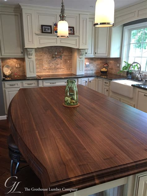 wood tops for kitchen islands custom walnut kitchen island countertop in columbia maryland 1951