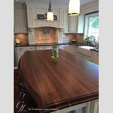 Custom Walnut Kitchen Island Countertop In Columbia Maryland