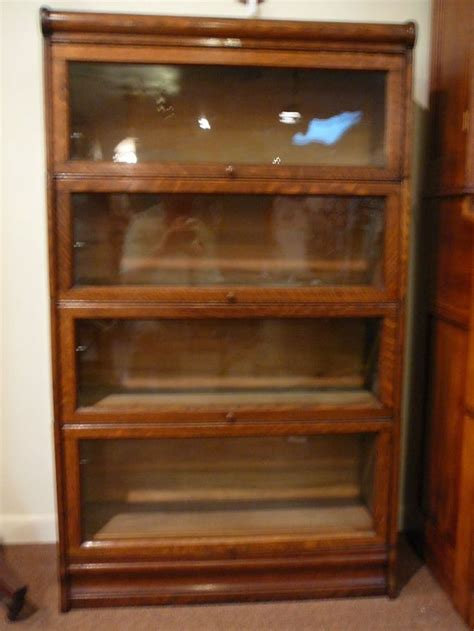 Lundstrom Bookcase by S10 Antique Lundstrom Oak Barrister Lawyer 4 Stack