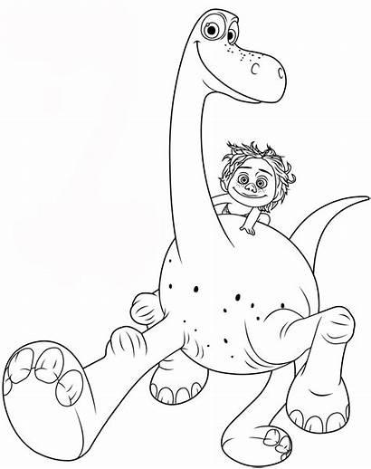Coloring Dinosaur Arlo Dinosaurs Pages Spot Printable