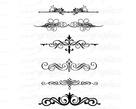 Scroll Divider Clip Art