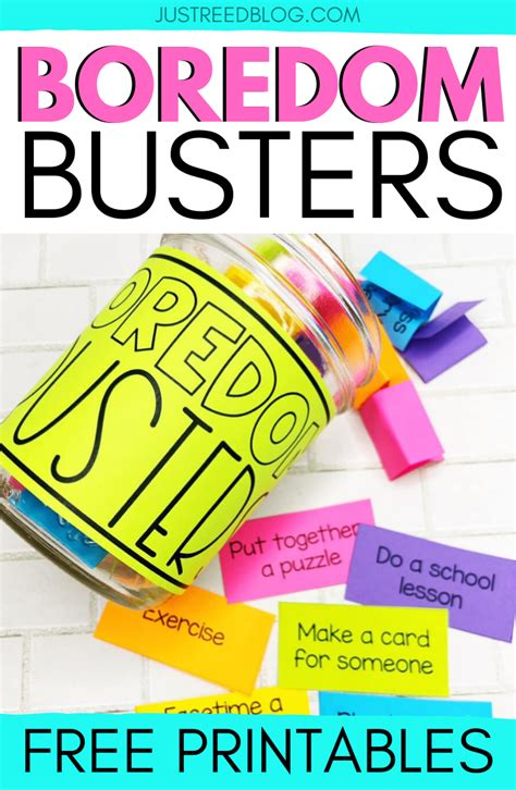 48 Boredom Busters for Young Children FREE Printable