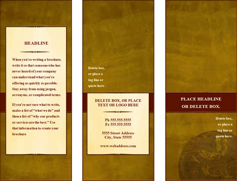 3 Column Brochure Template by Make A Tri Fold Brochure
