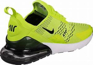 Nike Air Max 270 shoes neon yellow green