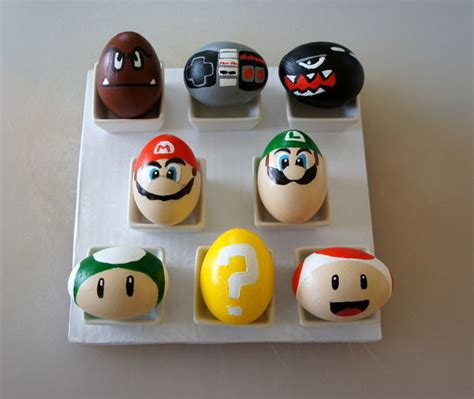 Character Decorated Eggs by Awesome Super Mario Bros Easter Eggs