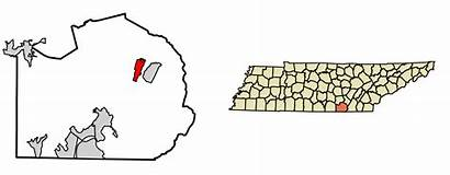 Marion County Tennessee Whitwell Unincorporated Highlighted Incorporated