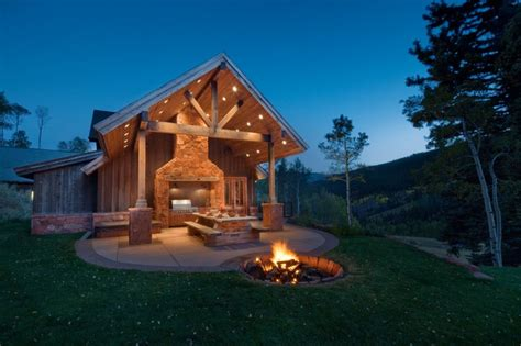 spectacular  ground fire pit  seating area decohoms