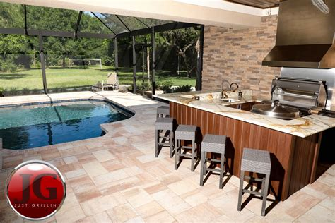 outdoor kitchen design installation  grillin tampa fl