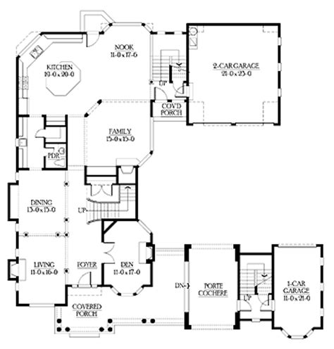 New American Floor Plans by U Shaped Home With Unique Floor Plan Hwbdo64049 New