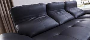 canape d39angle convertible en cuir prix imbattables With canapé d angle convertible en cuir noir