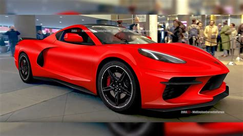 Fresh Mid-engined C8 Corvette Rendering Depicts A Curvy