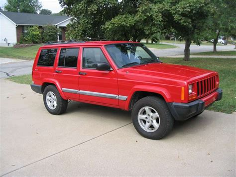 big red jeep my big red jeep 2001 jeep cherokee specs photos