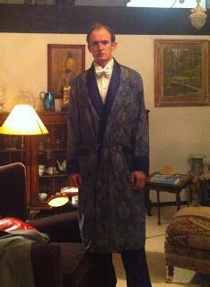 st james style luxury silk dressing gown mens style