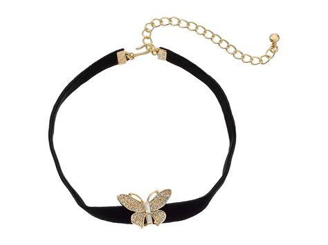 butterfly choker kenneth 12 quot black velvet choker with gold and