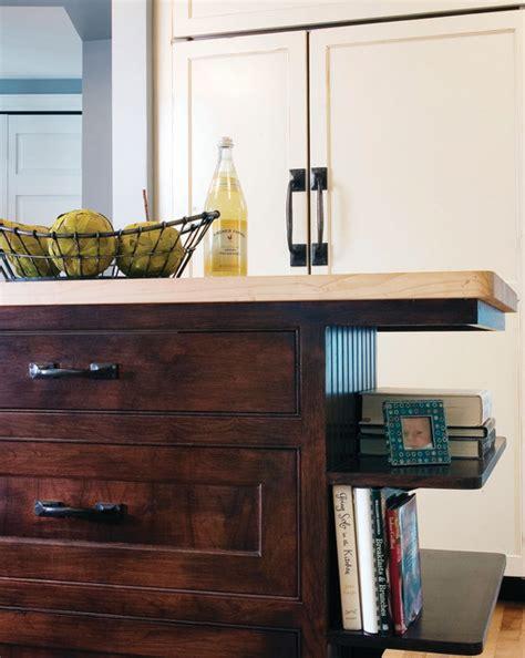 kitchen island  open shelves traditional kitchen minneapolis  anna berglin design
