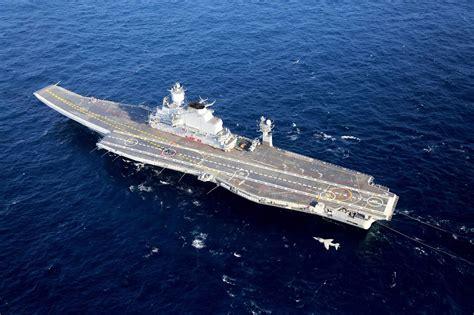 Fileins Vikramaditya (r33) With A Sea Harrierjpg
