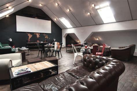 office industrial style interiors designed  ezzo design
