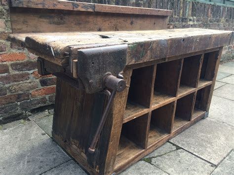 vintage industrial pigeon holes work bench heavenly metal