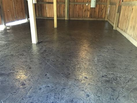 Pole Barn Concrete Floor Cost by Sted Concrete Floor In A Rustic Pole Barn Blackwater